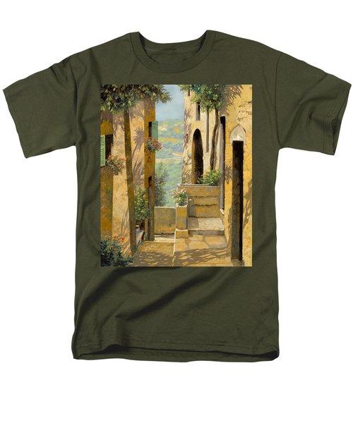 stradina a St Paul de Vence T-Shirt by Guido Borelli