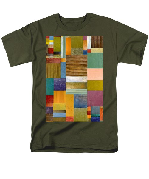 Strips and Pieces lV T-Shirt by Michelle Calkins