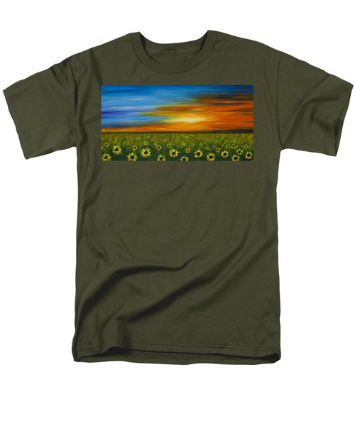 Sunflower Sunset - Flower Art By Sharon Cummings T-Shirt by Sharon Cummings