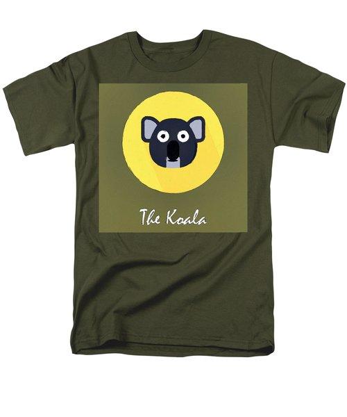 The Koala Cute Portrait Men's T-Shirt  (Regular Fit) by Florian Rodarte