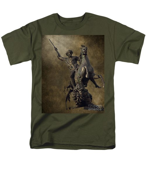 The Lion Fighter T-Shirt by Tom Gari Gallery-Three-Photography