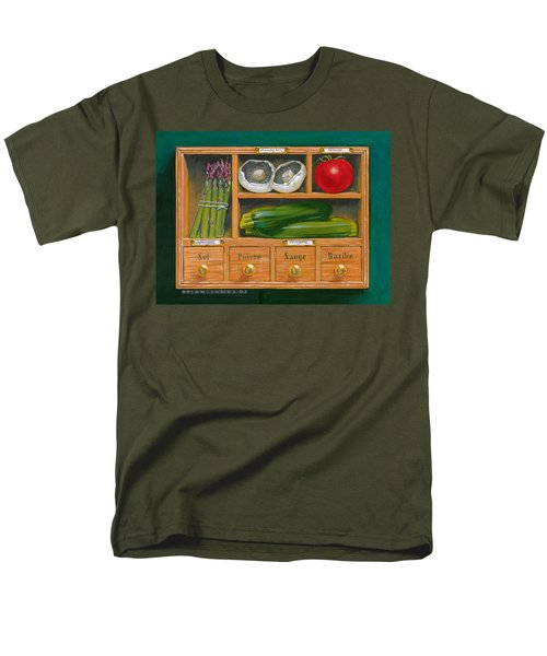 Vegetable Shelf Men's T-Shirt  (Regular Fit) by Brian James