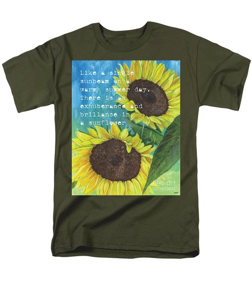 Vince's Sunflowers 1 T-Shirt by Debbie DeWitt