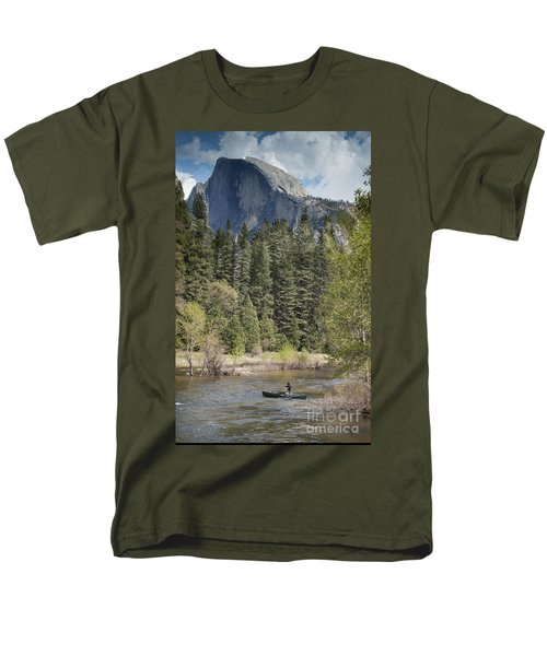Yosemite National Park. Half Dome Men's T-Shirt  (Regular Fit) by Juli Scalzi