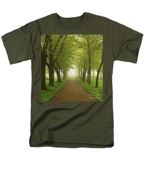 Foggy park T-Shirt by Elena Elisseeva