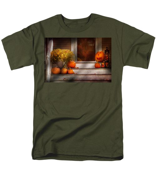 Autumn - Halloween - We're all happy to see you T-Shirt by Mike Savad