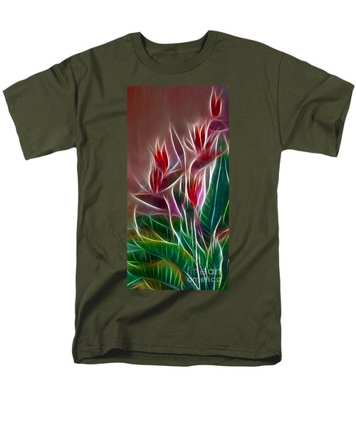 Bird of Paradise Fractal T-Shirt by Peter Piatt