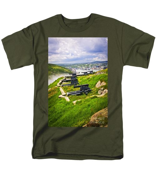 Cannons on Signal Hill near St. John's T-Shirt by Elena Elisseeva