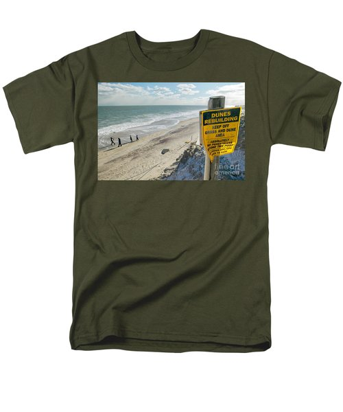 Dunes Rebuilding Keep off Grass and Dune Area Cape Cod T-Shirt by Matt Suess