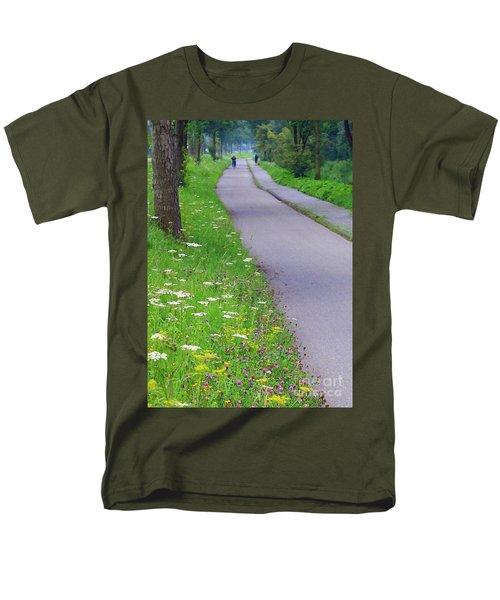Dutch Bicycle Path - Digital Painting T-Shirt by Carol Groenen