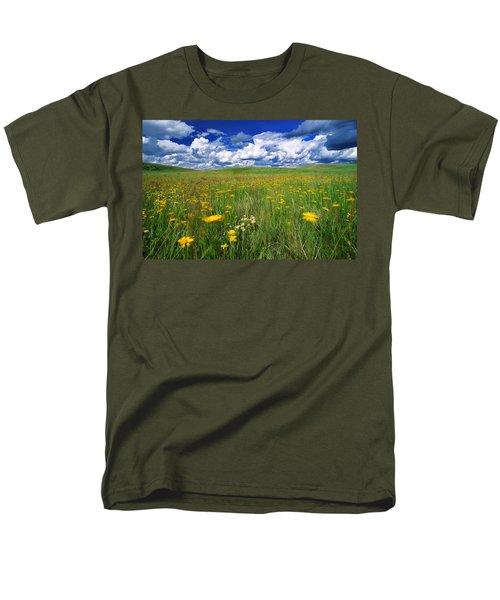 Field Of Flowers, Grasslands National T-Shirt by Robert Postma