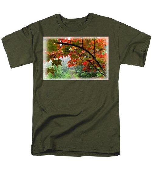 Fire Fog T-Shirt by Debra and Dave Vanderlaan