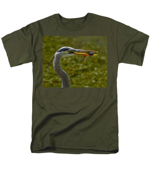 Fishing For A Living Men's T-Shirt  (Regular Fit) by Tony Beck