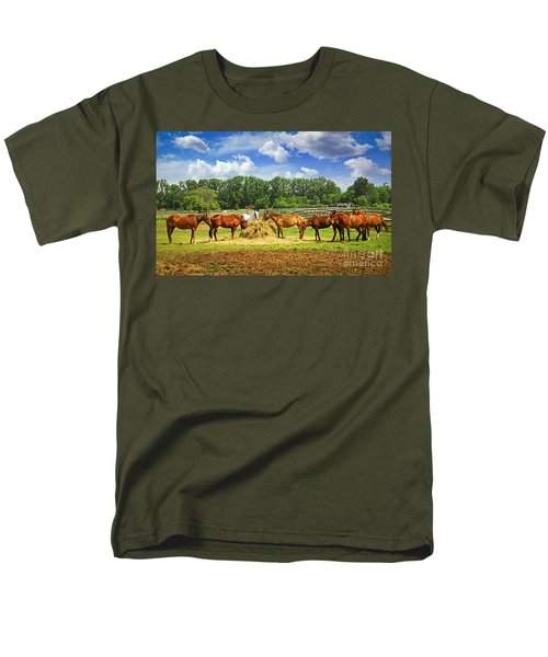 Horses at the ranch T-Shirt by Elena Elisseeva