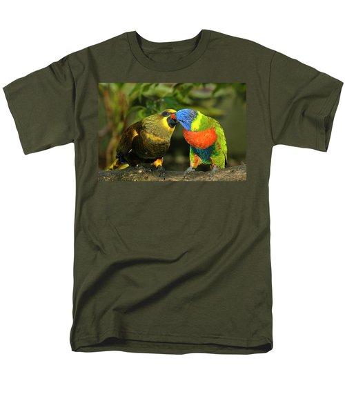 Kissing Birds Men's T-Shirt  (Regular Fit) by Carolyn Marshall