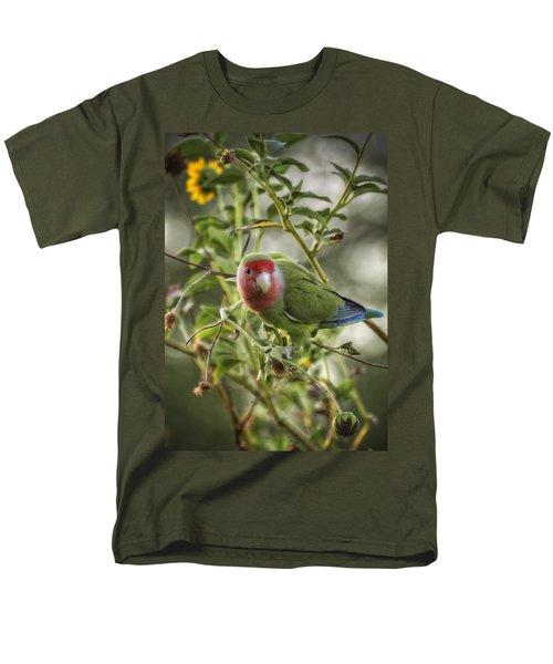 Lovely Little Lovebird Men's T-Shirt  (Regular Fit) by Saija  Lehtonen