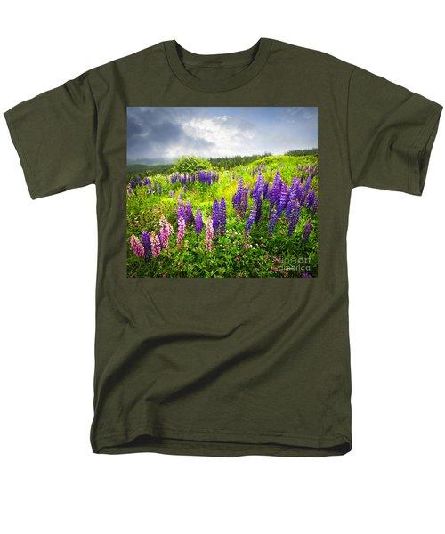 Lupin flowers in Newfoundland T-Shirt by Elena Elisseeva