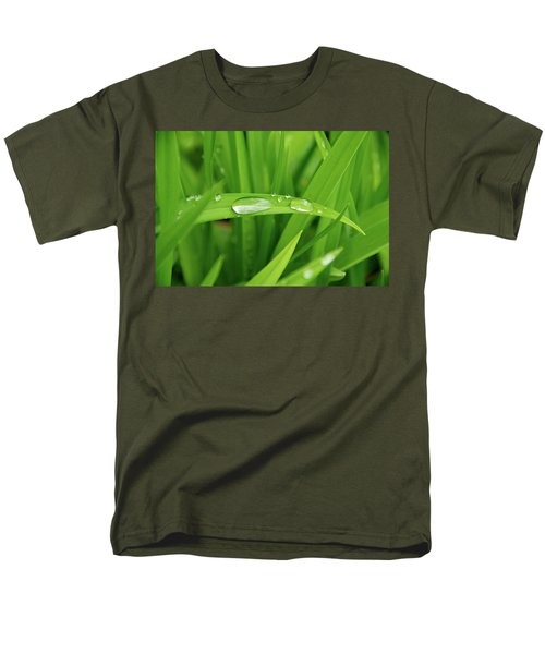 Rain Drops On Grass T-Shirt by Trever Miller