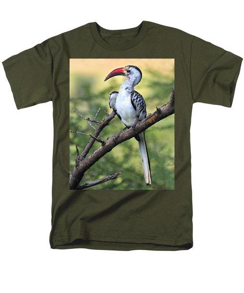 Red-billed Hornbill Men's T-Shirt  (Regular Fit) by Tony Beck