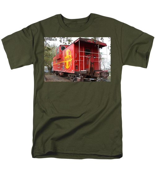 Red Sante Fe Caboose Train . 7D10332 T-Shirt by Wingsdomain Art and Photography
