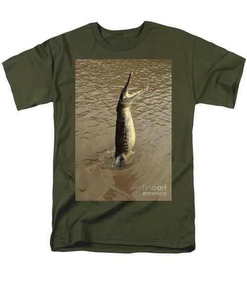 Salt Water Crocodile Men's T-Shirt  (Regular Fit) by Bob Christopher