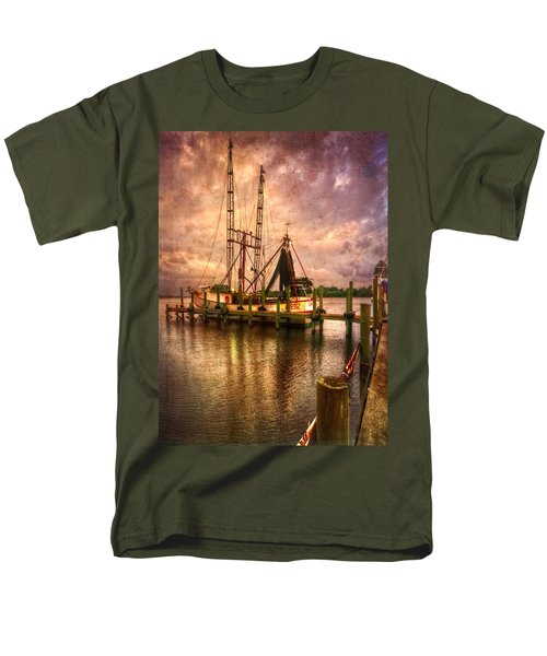 Shrimp Boat at Sunset II T-Shirt by Debra and Dave Vanderlaan