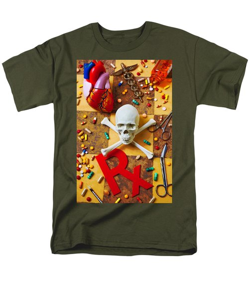 Skull and bones with medical icons T-Shirt by Garry Gay