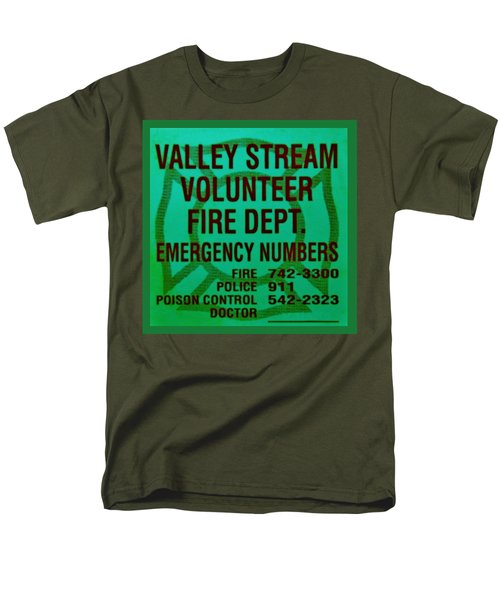 VALLEY STREAM FIRE DEPARTMENT in IRISH GREEN T-Shirt by ROB HANS