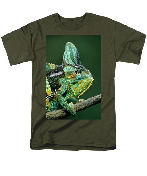 Veiled Chameleon Chamaeleo Calyptratus T-Shirt by Ingo Arndt