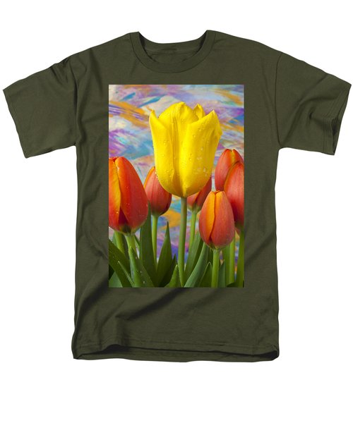 Yellow and Orange Tulips T-Shirt by Garry Gay