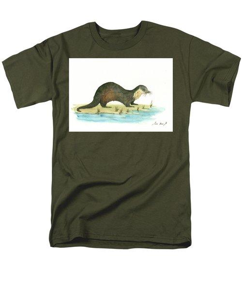 Otter Men's T-Shirt  (Regular Fit) by Juan Bosco