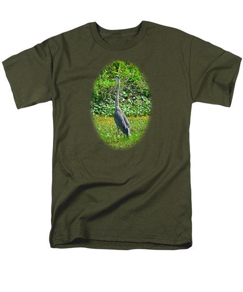 Great Blue Heron Men's T-Shirt  (Regular Fit) by Deborah Good