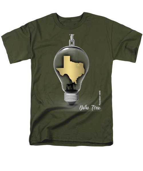 Dallas Texas Map Collection Men's T-Shirt  (Regular Fit) by Marvin Blaine
