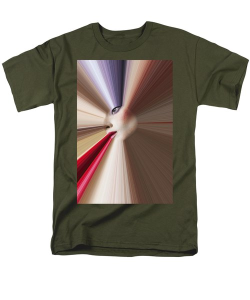 Abstract Face T-Shirt by Garry Gay
