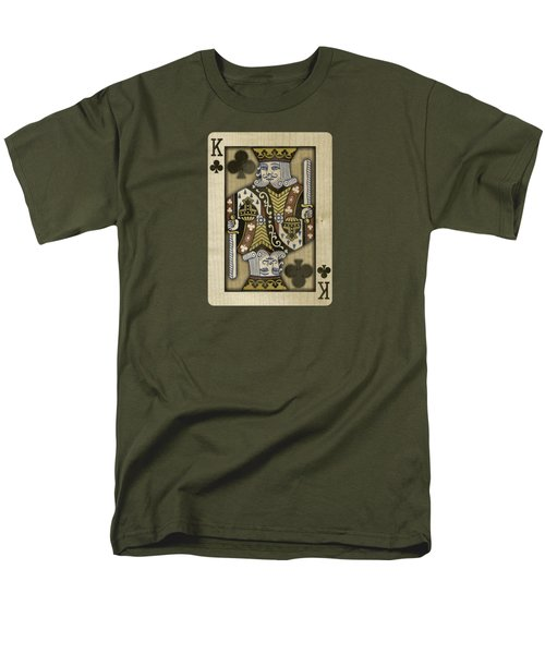 King Of Clubs In Wood T-Shirt by YoPedro