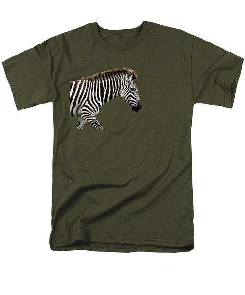 Zebra Men's T-Shirt  (Regular Fit) by Aidan Moran