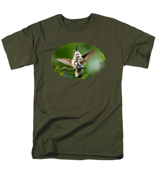 Hummingbird Happy Dance Men's T-Shirt  (Regular Fit) by Christina Rollo
