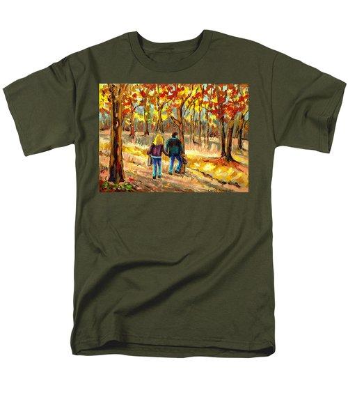 AUTUMN  STROLL ON MOUNT ROYAL T-Shirt by CAROLE SPANDAU