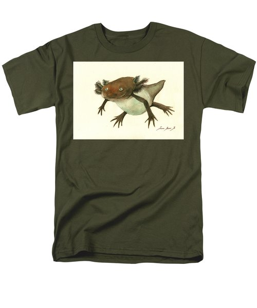 Axolotl Men's T-Shirt  (Regular Fit) by Juan Bosco