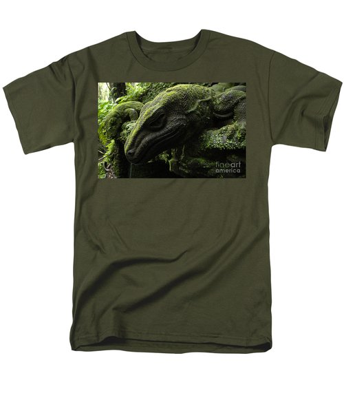 Bali Indonesia Lizard Sculpture Men's T-Shirt  (Regular Fit) by Bob Christopher