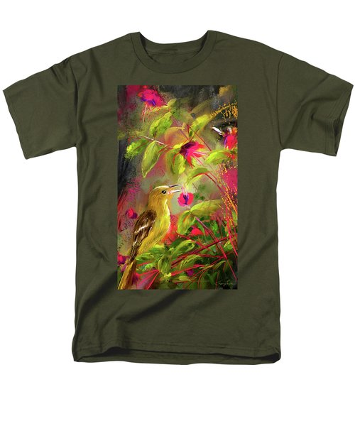 Baltimore Oriole Art- Baltimore Female Oriole Art Men's T-Shirt  (Regular Fit) by Lourry Legarde