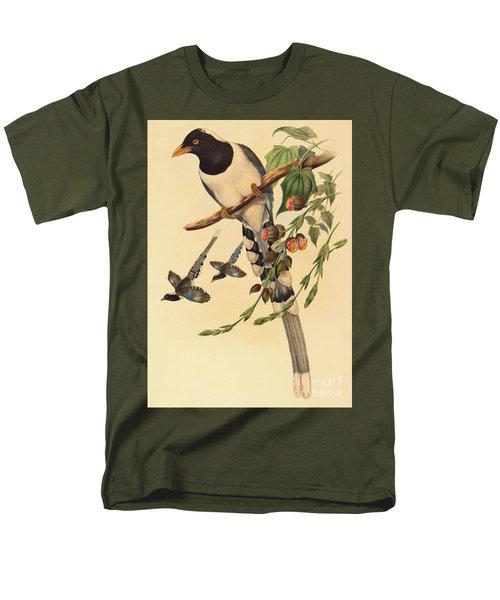 Blue Magpie, Urocissa Magnirostris Men's T-Shirt  (Regular Fit) by John Gould