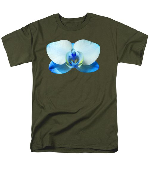 Blue Orchid 1 Men's T-Shirt  (Regular Fit) by Scott Carruthers