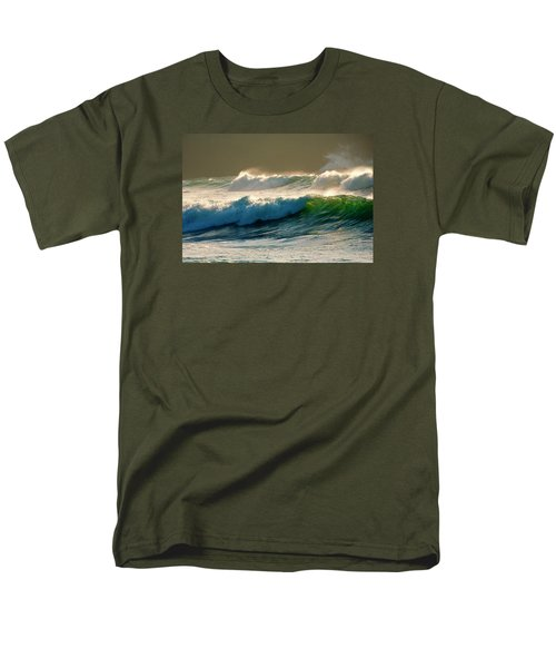 Boiler Bay Waves Rolling T-Shirt by Mike  Dawson
