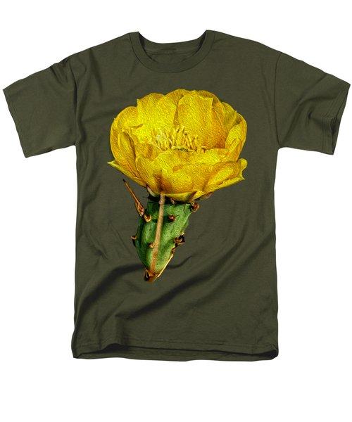 Cactus Flower Op26 Men's T-Shirt  (Regular Fit) by Mark Myhaver