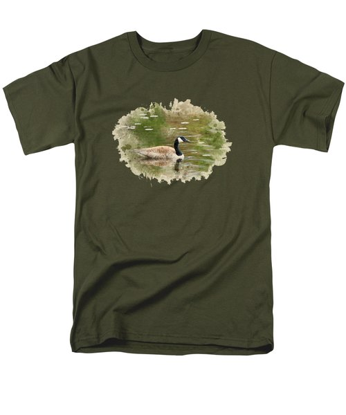 Canada Goose Watercolor Art Men's T-Shirt  (Regular Fit) by Christina Rollo