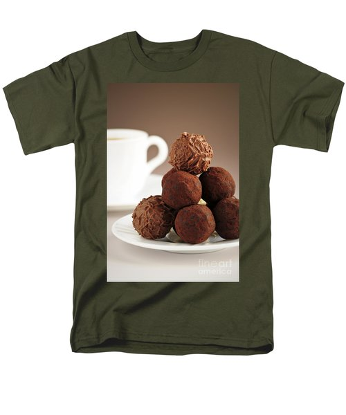 Chocolate truffles and coffee T-Shirt by Elena Elisseeva