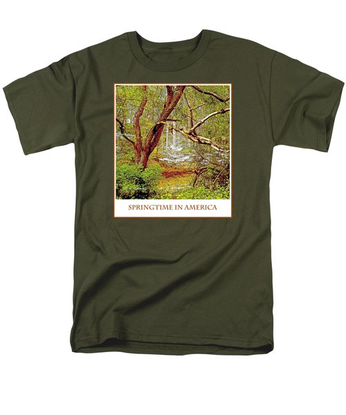 Men's T-Shirt  (Regular Fit) featuring the photograph Dogwood Tree In Spring by A Gurmankin