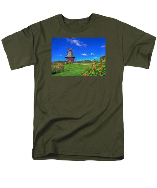 Men's T-Shirt  (Regular Fit) featuring the photograph Dutch Windmill by Rodney Campbell