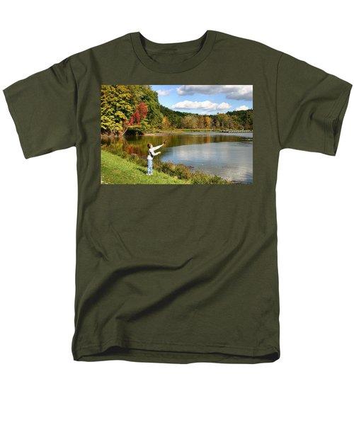 Fall Fishing T-Shirt by Kristin Elmquist